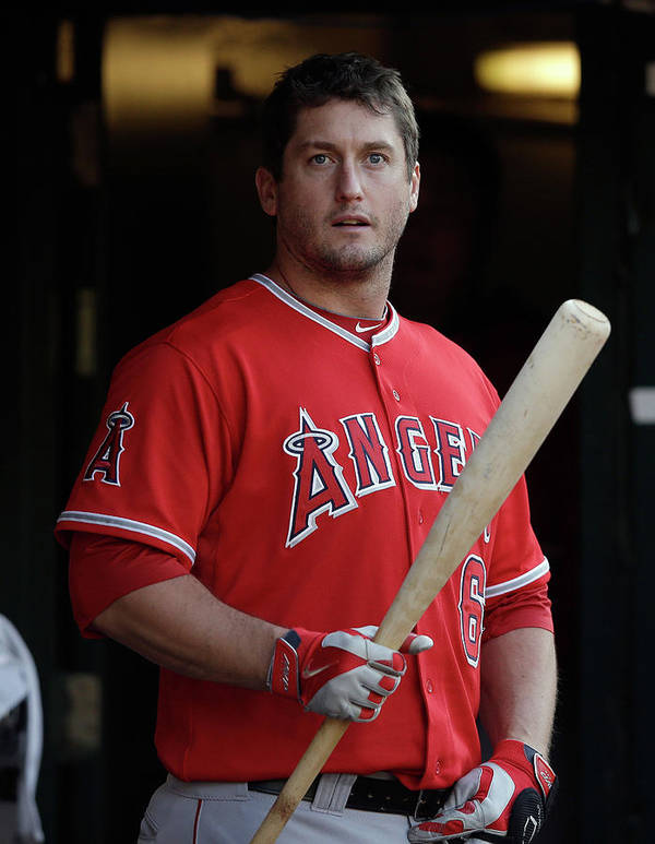 American League Baseball Poster featuring the photograph David Freese by Ezra Shaw