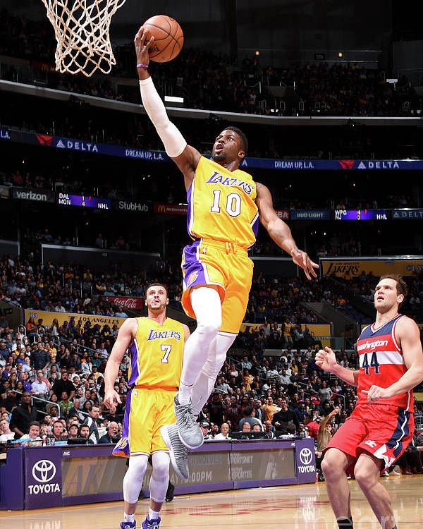 Nba Pro Basketball Poster featuring the photograph David Nwaba by Andrew D. Bernstein