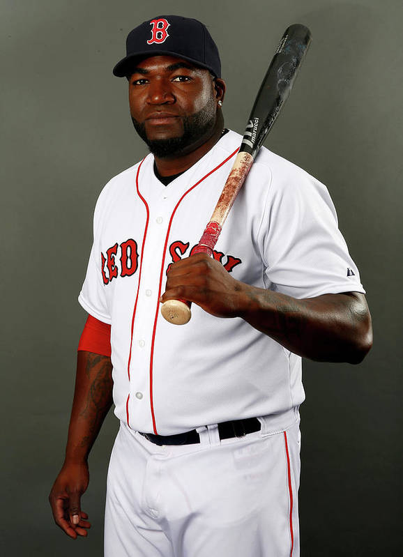 Media Day Poster featuring the photograph David Ortiz by Elsa