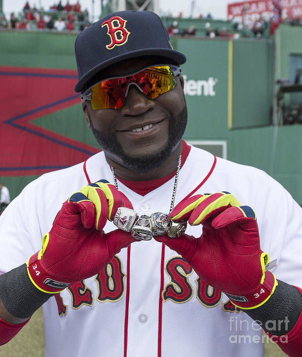 American League Baseball Poster featuring the photograph David Ortiz by Michael Ivins/boston Red Sox