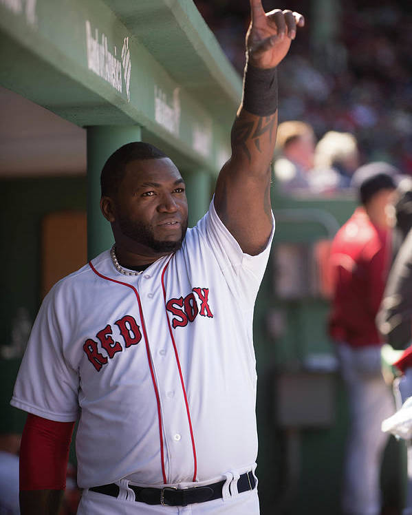 East Poster featuring the photograph David Ortiz by Rob Tringali