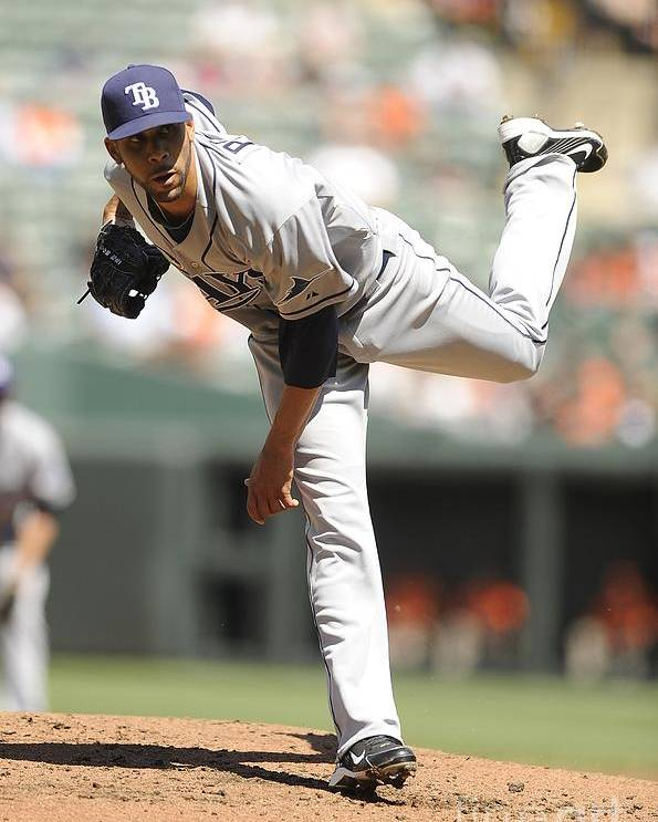 David Price Poster featuring the photograph David Price by G Fiume