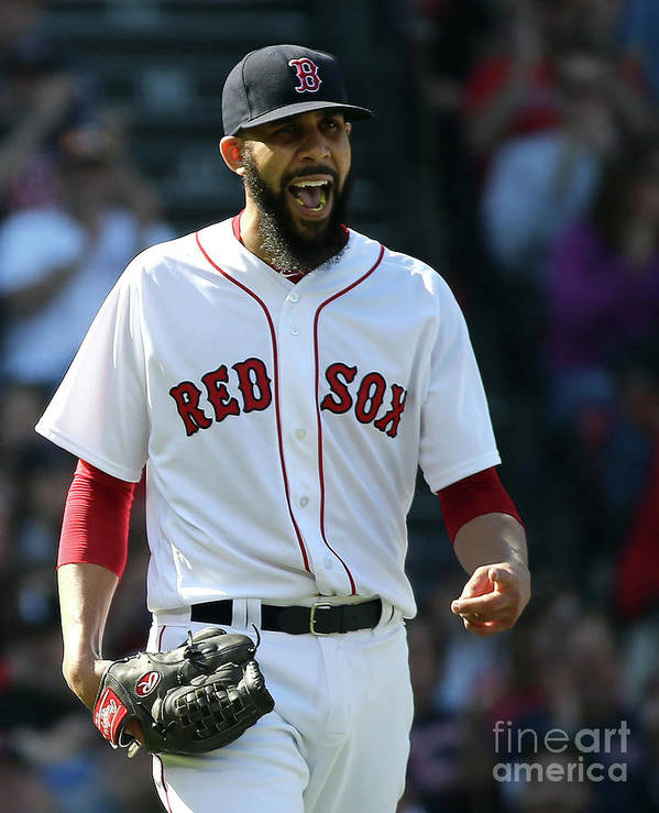 David Price Poster featuring the photograph David Price by Jim Rogash