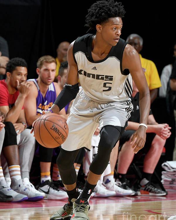 Nba Pro Basketball Poster featuring the photograph De'aaron Fox by Garrett Ellwood