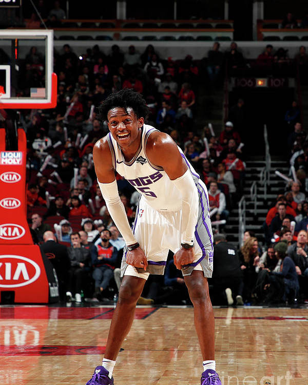 Nba Pro Basketball Poster featuring the photograph De'aaron Fox by Jeff Haynes