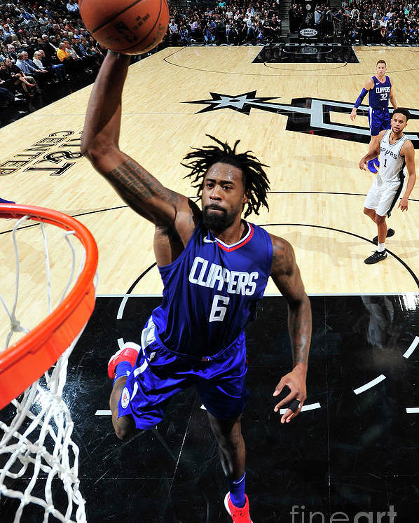 Nba Pro Basketball Poster featuring the photograph Deandre Jordan by Mark Sobhani