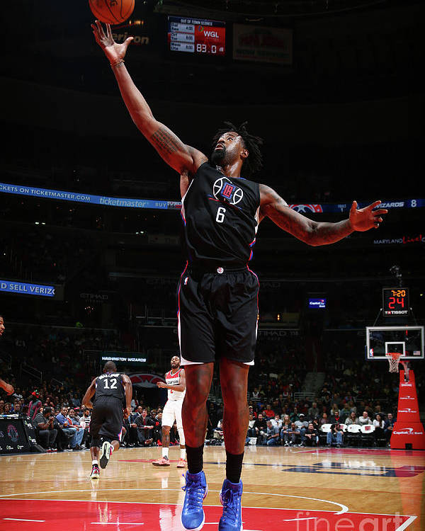 Nba Pro Basketball Poster featuring the photograph Deandre Jordan by Ned Dishman