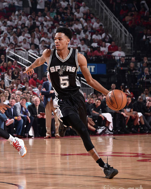 Playoffs Poster featuring the photograph Dejounte Murray by Bill Baptist