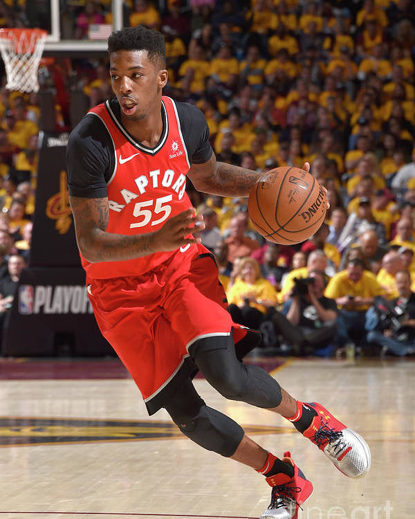 Playoffs Poster featuring the photograph Delon Wright by David Liam Kyle