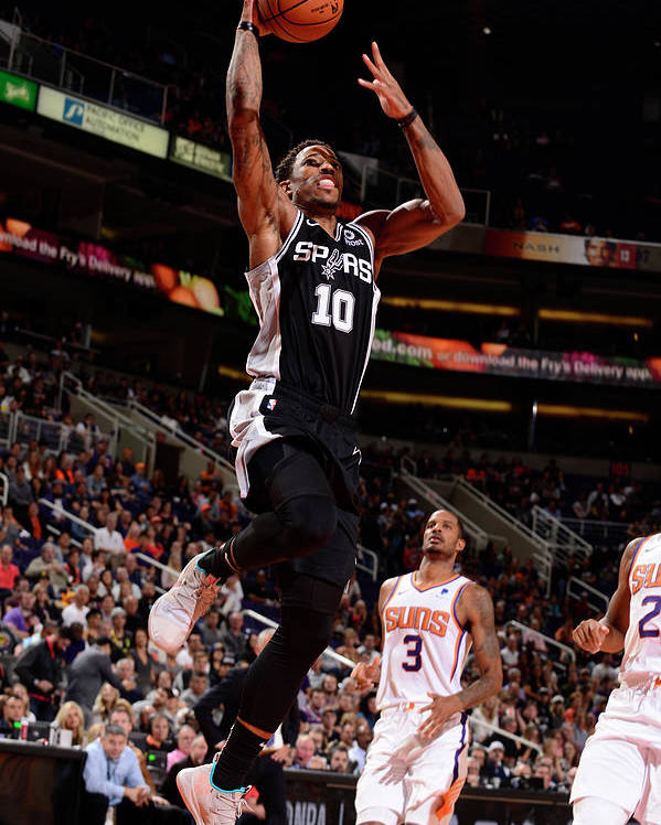 Nba Pro Basketball Poster featuring the photograph Demar Derozan by Barry Gossage