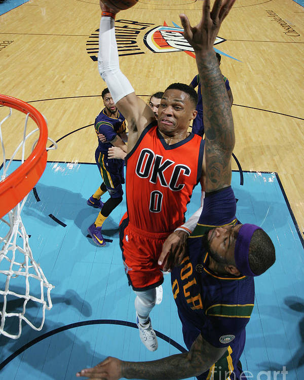 Nba Pro Basketball Poster featuring the photograph Demarcus Cousins and Russell Westbrook by Layne Murdoch