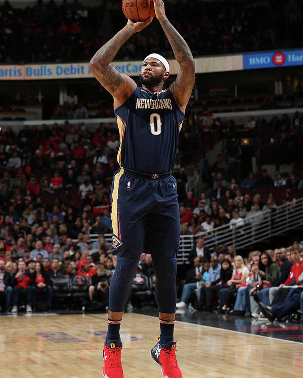 Nba Pro Basketball Poster featuring the photograph Demarcus Cousins by Gary Dineen