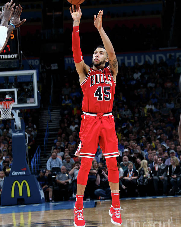Nba Pro Basketball Poster featuring the photograph Denzel Valentine by Layne Murdoch