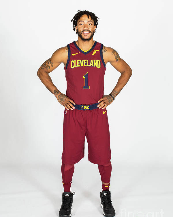 Media Day Poster featuring the photograph Derrick Rose by Michael J. Lebrecht Ii