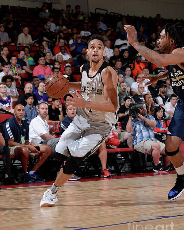 Nba Pro Basketball Poster featuring the photograph Derrick White by David Dow