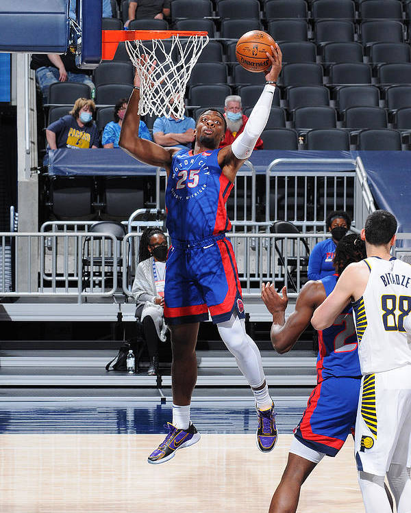 Nba Pro Basketball Poster featuring the photograph Detroit Pistons v Indiana Pacers by Ron Hoskins