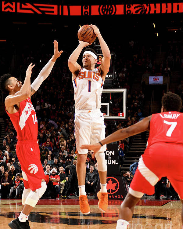 Nba Pro Basketball Poster featuring the photograph Devin Booker by Ron Turenne