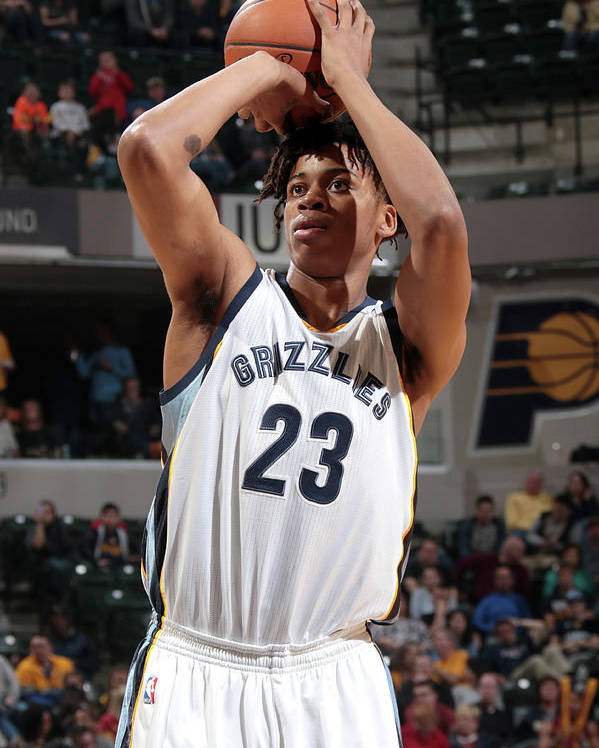Nba Pro Basketball Poster featuring the photograph Deyonta Davis by Ron Hoskins