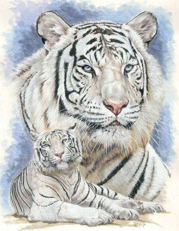 Big Cat Poster featuring the mixed media Dignity by Barbara Keith
