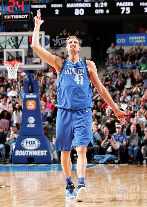 Nba Pro Basketball Poster featuring the photograph Dirk Nowitzki by Danny Bollinger