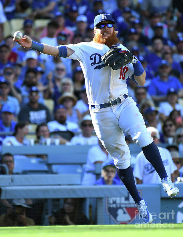 People Poster featuring the photograph Dj Lemahieu And Justin Turner by Jayne Kamin-oncea