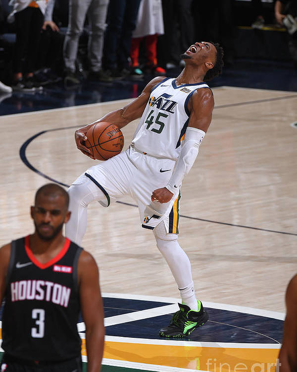 Playoffs Poster featuring the photograph Donovan Mitchell by Bill Baptist