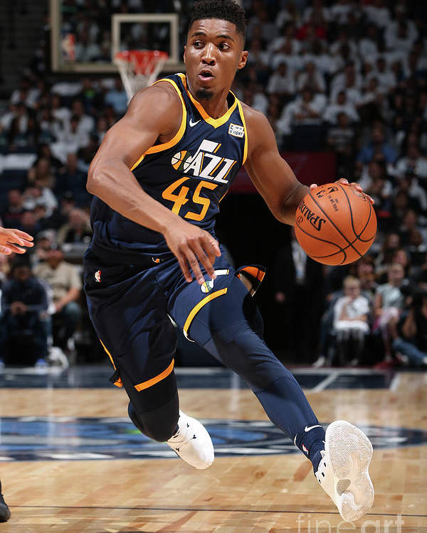 Nba Pro Basketball Poster featuring the photograph Donovan Mitchell by David Sherman