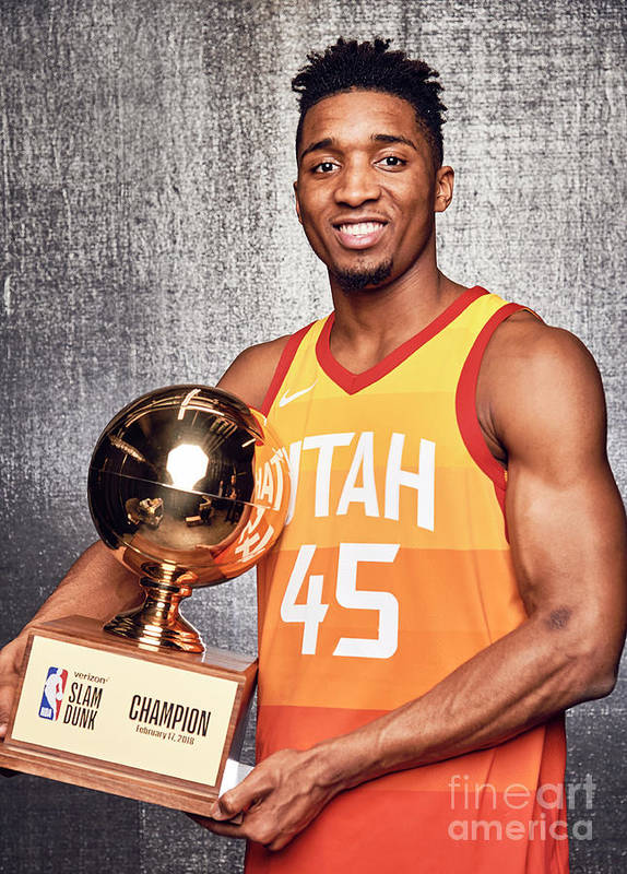 Event Poster featuring the photograph Donovan Mitchell by Jennifer Pottheiser