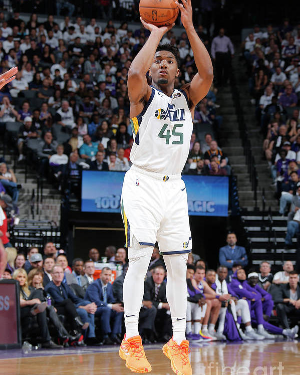 Nba Pro Basketball Poster featuring the photograph Donovan Mitchell by Rocky Widner