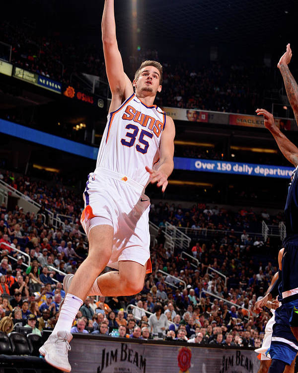 Nba Pro Basketball Poster featuring the photograph Dragan Bender by Barry Gossage