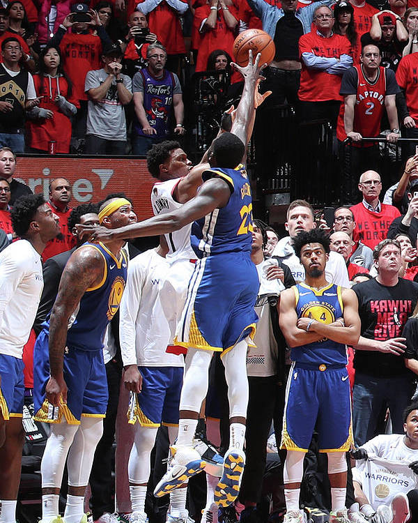 Playoffs Poster featuring the photograph Draymond Green and Kyle Lowry by Nathaniel S. Butler