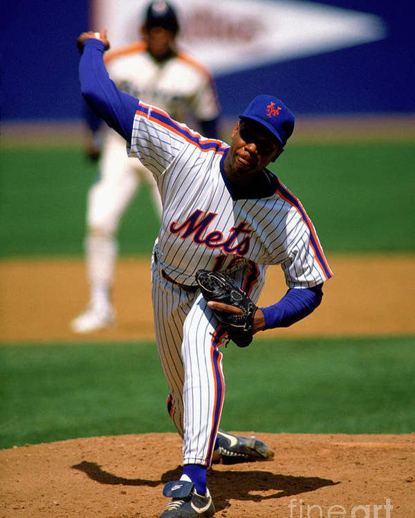 Dwight Gooden Poster featuring the photograph Dwight Gooden by Mlb Photos