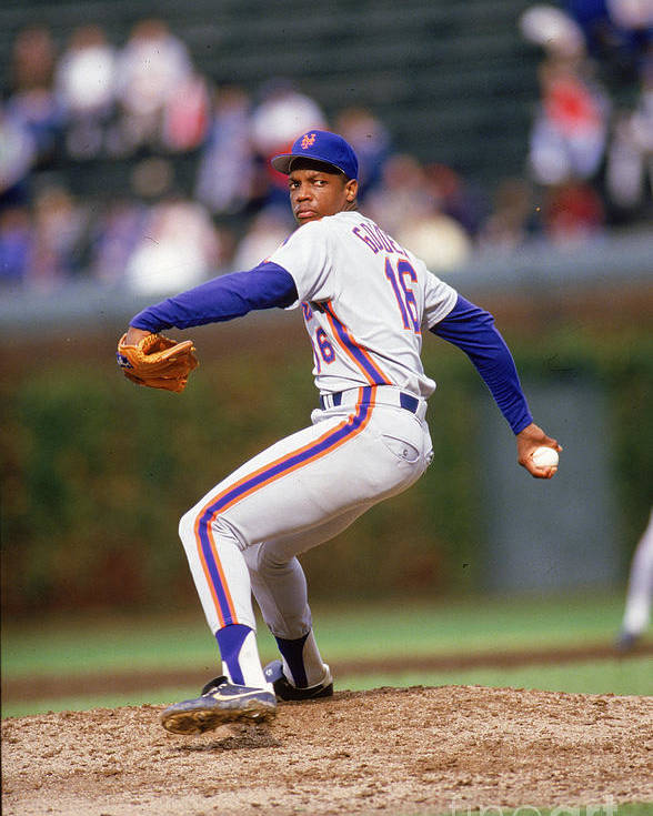 Dwight Gooden Poster featuring the photograph Dwight Gooden by Ron Vesely