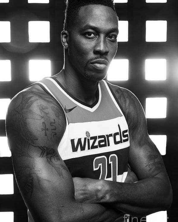 Media Day Poster featuring the photograph Dwight Howard by Stephen Gosling