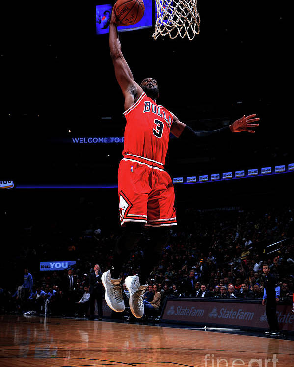 Nba Pro Basketball Poster featuring the photograph Dwyane Wade by Bart Young