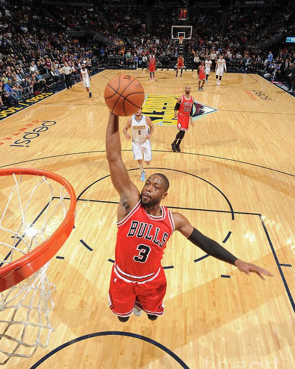 Nba Pro Basketball Poster featuring the photograph Dwyane Wade by Garrett Ellwood