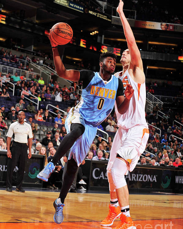 Nba Pro Basketball Poster featuring the photograph Emmanuel Mudiay by Barry Gossage