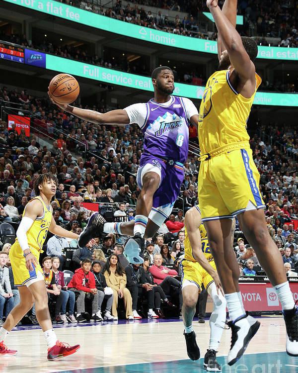 Nba Pro Basketball Poster featuring the photograph Emmanuel Mudiay by Melissa Majchrzak