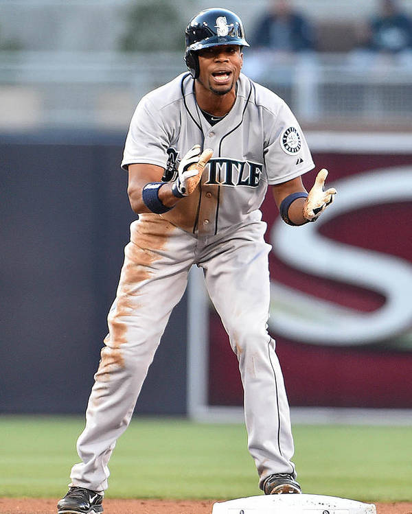 American League Baseball Poster featuring the photograph Endy Chavez by Denis Poroy