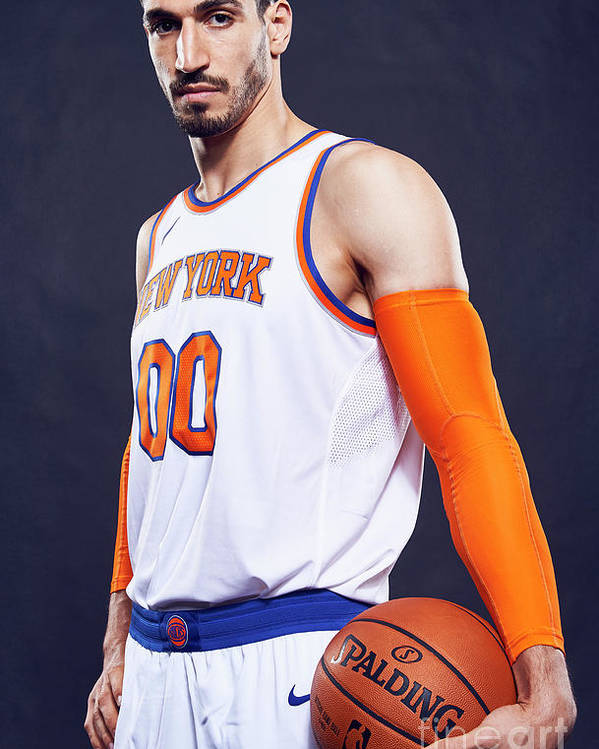 Media Day Poster featuring the photograph Enes Kanter by Jennifer Pottheiser