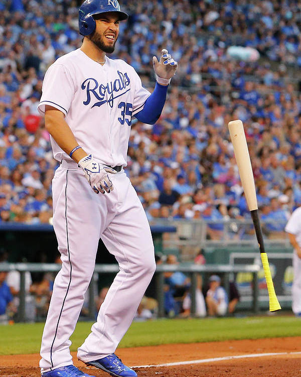People Poster featuring the photograph Eric Hosmer by Kyle Rivas
