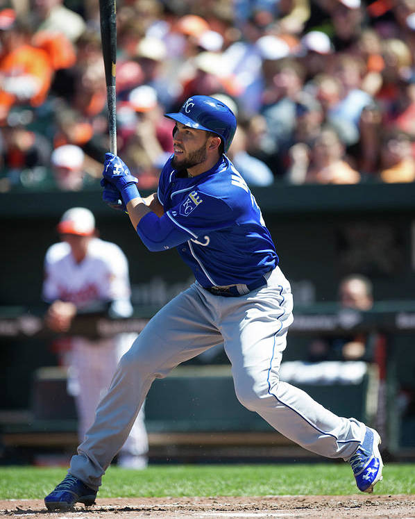 American League Baseball Poster featuring the photograph Eric Hosmer by Rob Tringali