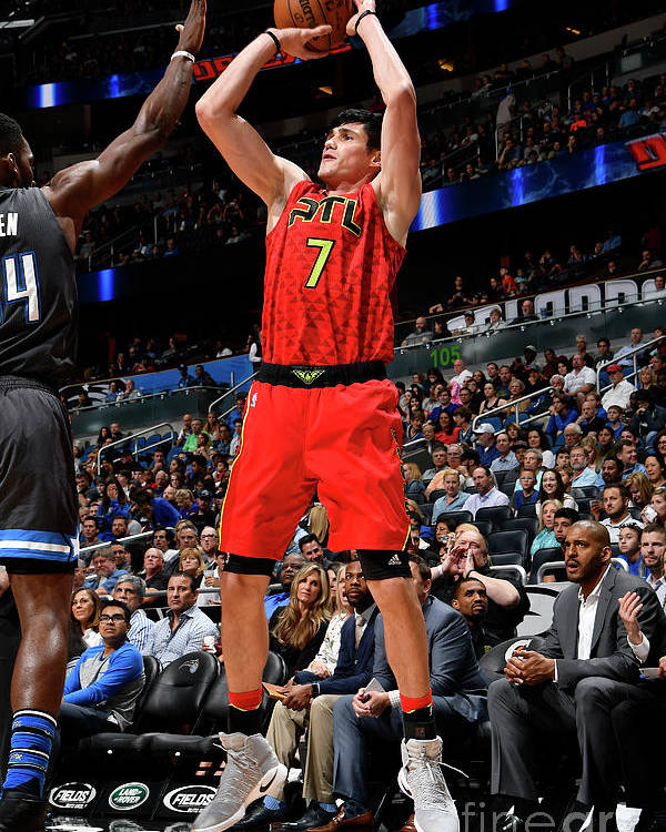 Nba Pro Basketball Poster featuring the photograph Ersan Ilyasova by Fernando Medina