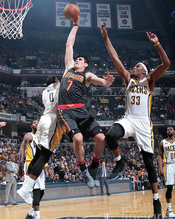 Nba Pro Basketball Poster featuring the photograph Ersan Ilyasova by Ron Hoskins