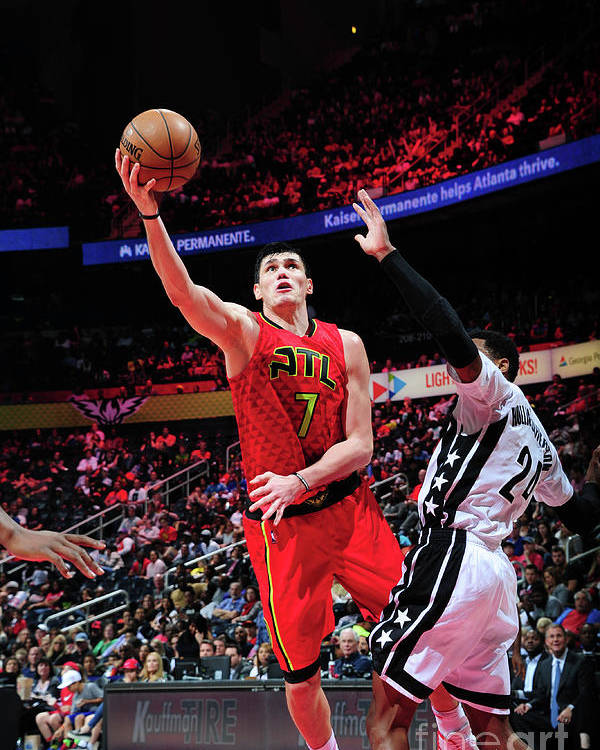 Atlanta Poster featuring the photograph Ersan Ilyasova by Scott Cunningham