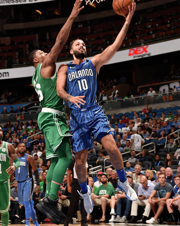 Nba Pro Basketball Poster featuring the photograph Evan Fournier by Gary Bassing