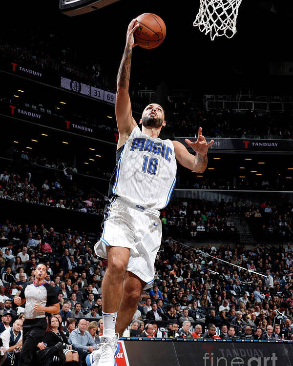Nba Pro Basketball Poster featuring the photograph Evan Fournier by Nathaniel S. Butler