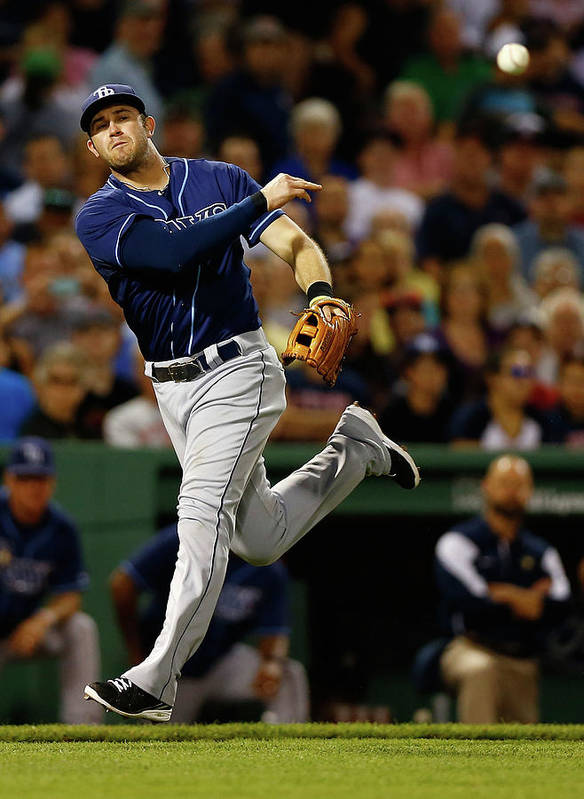 American League Baseball Poster featuring the photograph Evan Longoria by Jared Wickerham