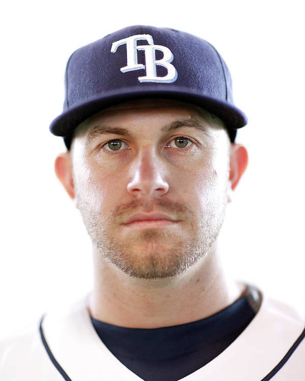 American League Baseball Poster featuring the photograph Evan Longoria by Jonathan Ferrey