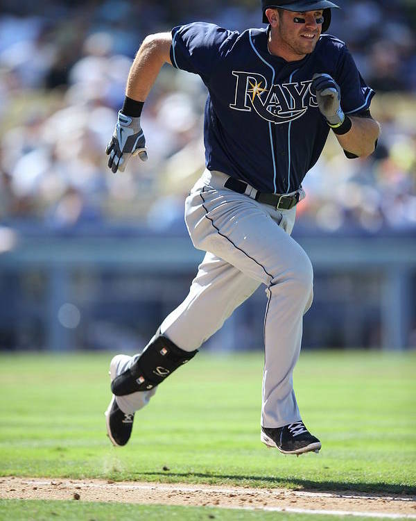American League Baseball Poster featuring the photograph Evan Longoria by Paul Spinelli